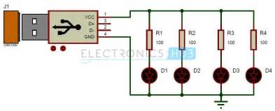 Car Led Circuit Diagram Usb Led L Circuit 5v Usb Light For Laptop