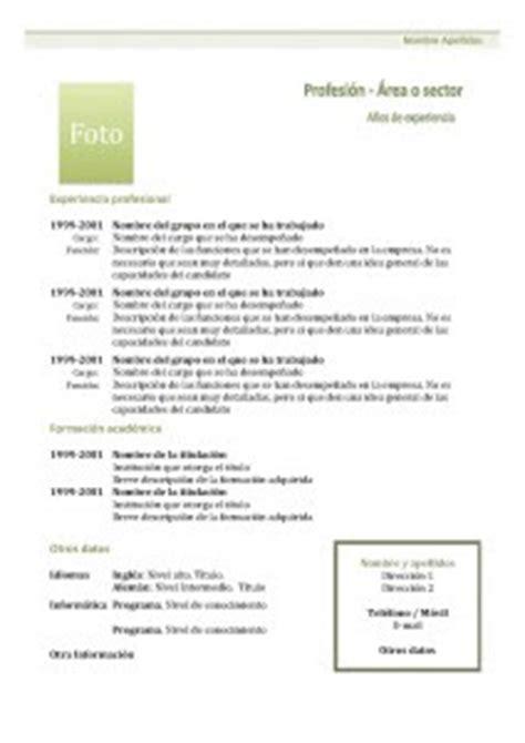 Plantillas De Curriculum Bã Sico Experiencia Para Rellenar Informatica 4s Las Nieves Curriculum Vitae