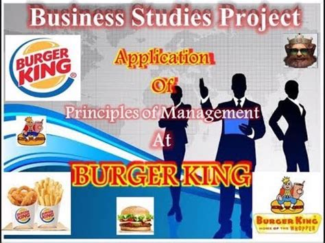 Mba Leadership Program Burger King by Principles Of Management At Burger King Class 12 Business