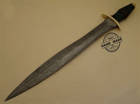 Handmade Custom Swords - amazing damascus sword custom handmade damascus steel