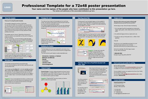 professional poster design templates professional template for a 72x48 poster presentation