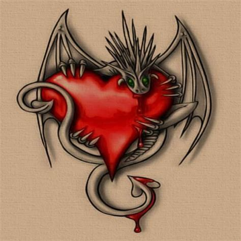free tattoo designs heart and devil full tattoo