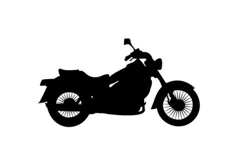 Motorrad Silhouette by Vintage Motorcycle Silhouette