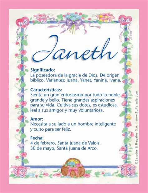 imagenes de cumpleaños janeth janeth significado del nombre janeth nombres