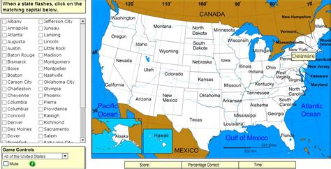 us map sheppard software interactive map of united states capitals of united states