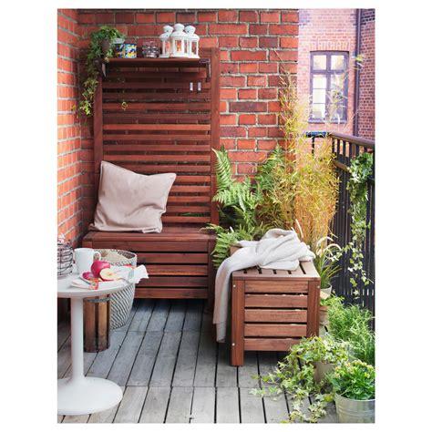 outdoor storage bench ikea 196 pplar 214 storage bench outdoor brown stained 80x41 cm ikea