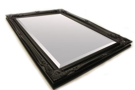 beautiful mirrors large black hairdresser and salon beautiful mirrors full size and colour range