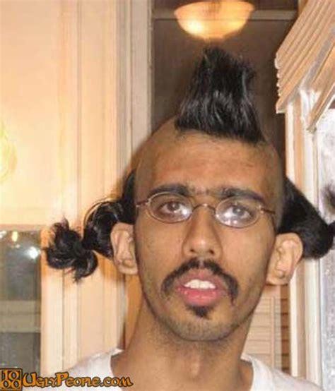 ugly bang hair fashion hairstyle fail ugly man with strange hairstyle