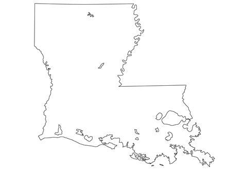 louisiana state map outline la
