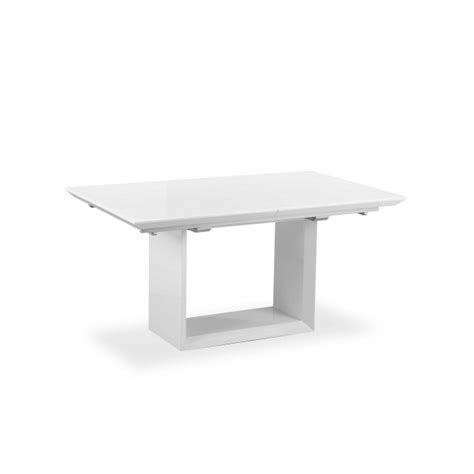 Extending White Gloss Dining Table Soho Extending Dining Table White High Gloss