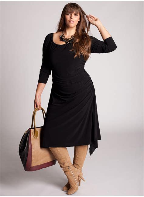 imagenes para amigas gorditas vestido casuales para gorditas en color negro vestidos