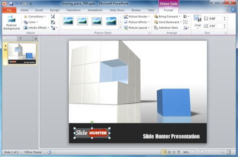 powerpoint themes disappeared powerpoint template with 3d cube animation
