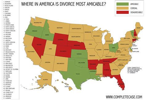 happiest states to live in where the happiest divorces happen divorces in