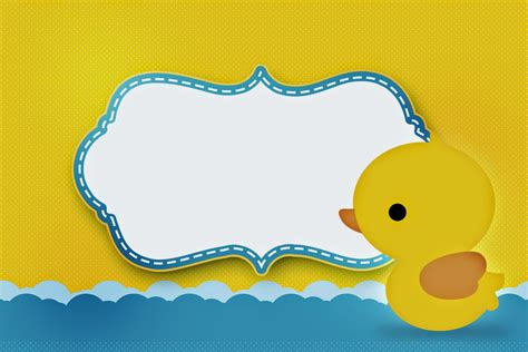 baby duck shower invitations free printables 7 best images of rubber ducky printable template free