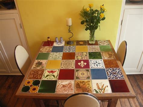 Tile Kitchen Table Commercial Tiled Table The Ceramic House