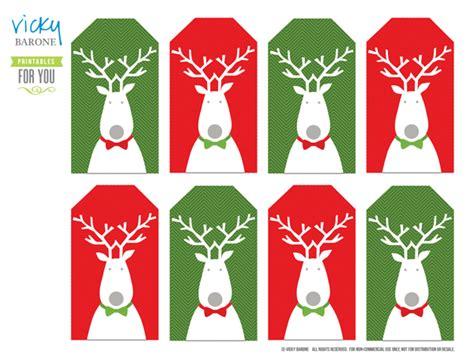 printable reindeer christmas tags free printable holiday gift tags vicky barone