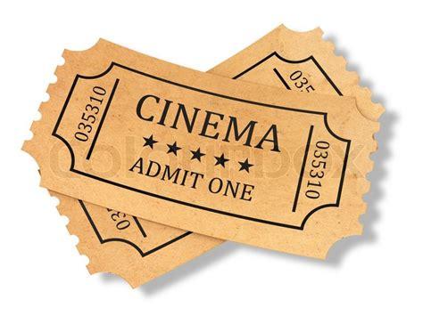 cineplex no passes 3d render of retro cinema tickets on white background