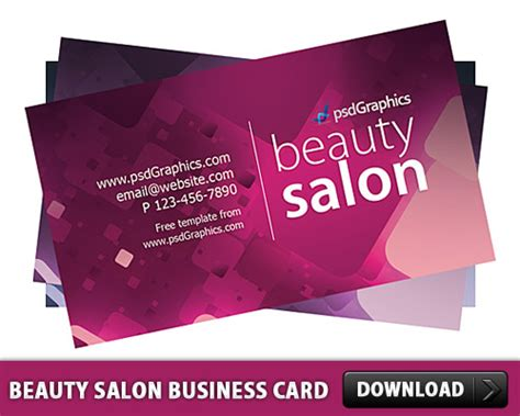 Salon Business Card Templates Psd salon business card template free psd