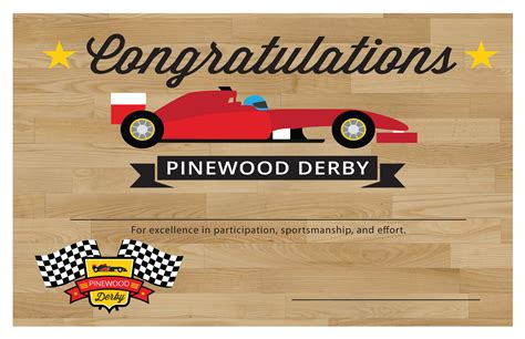 cub scouts pinewood derby templates cub scout pinewood derby certificate templates templates