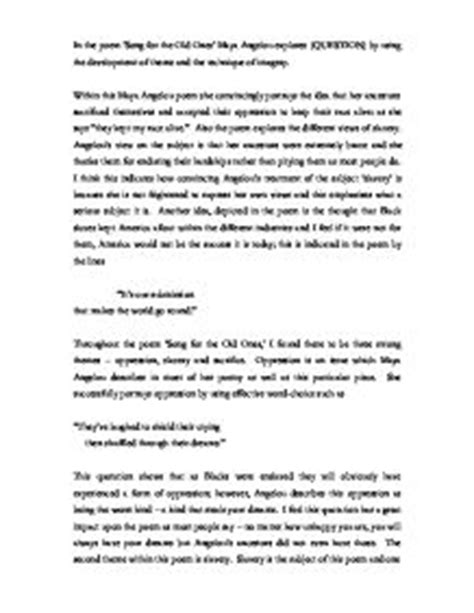 Essay About Angelou by 2 Page Essay On Angelou
