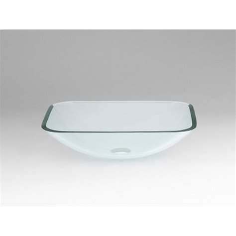 rectangular clear glass vessel sinks ronbow rectangle tempered glass vessel bathroom in