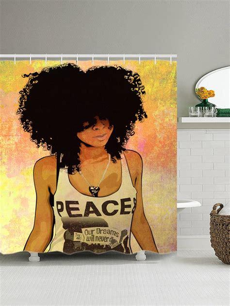 Hip Bath Shower hip hop afro hair girl shower curtain colormix 2 cm in