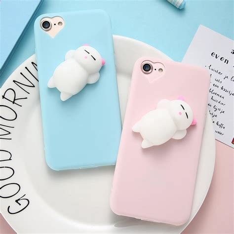 C0353 Squishy For Iphone 5 5s Se 6 6s 6 6s 7 7 silicon 3d squishy cat cases for iphone 5s 5 se 6 6s plus 7 7 plu mycase