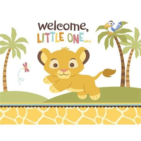 Your new little one with these lion king baby shower invitations baby