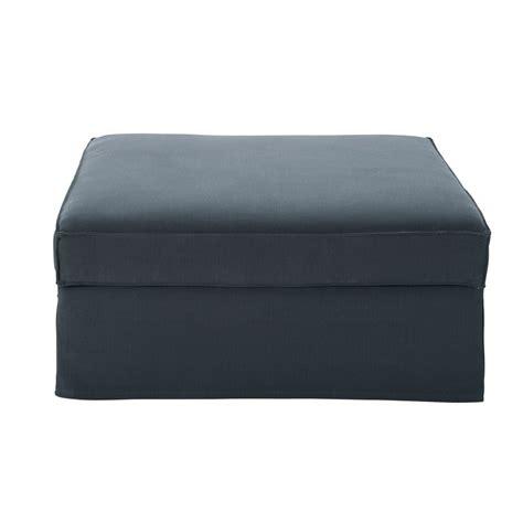 pouf canape pouf de canap 233 en coton et gris enzo maisons du monde