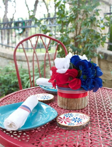 fourth of july centerpieces floral fourth of july table decor diy