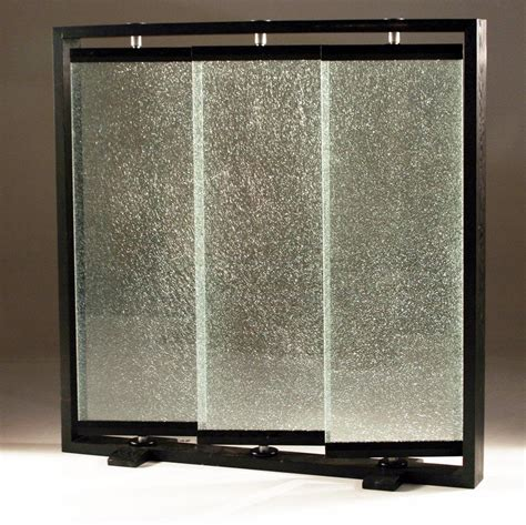 Glass Panel Room Divider Cracked Glass Partians Panel Crackled Glass Room Partition Room Dividers And Screens