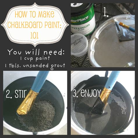 diy chalk paint recipe with unsanded grout chalkboard paint d i y apt b collective