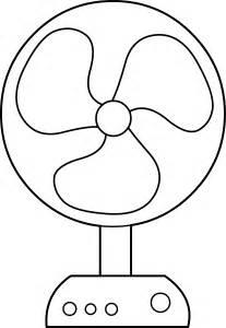 Fan Outline by Electric Fan Line Free Clip