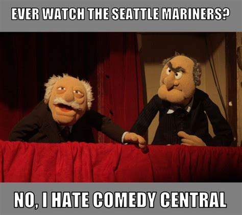 Waldorf And Statler Meme - statler and waldorf mariners baseball by angusmctavish