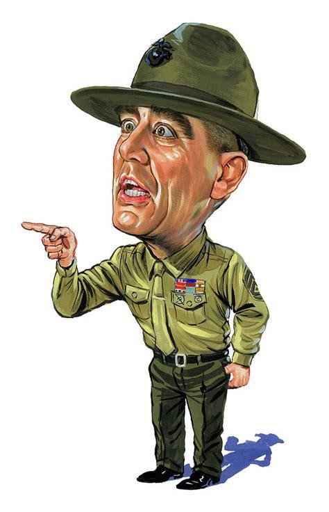 gunny metal jacket r ermey as gunnery sergeant hartman painting by