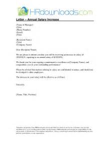 Raise Letter Template Doc 706929 Salary Increase Letter Bizdoska