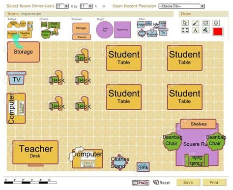 physical layout of classroom free classroom architect tool design your classroom