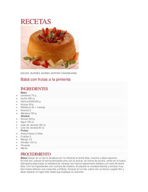 recetas de cocina postre recetas postres