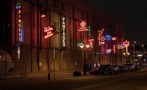 neon sign museum city  edmonton
