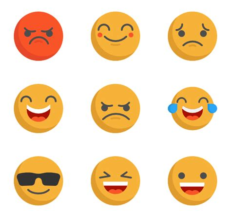 emoji png pack 62 emoticon icon packs vector icon packs svg psd png