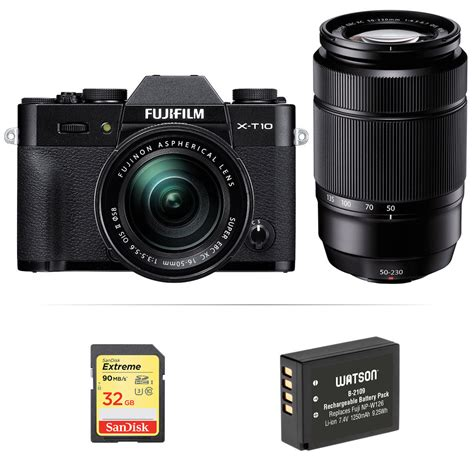 fuji mirrorless fujifilm x t10 mirrorless digital with 16 50mm and b h