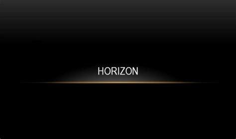horizon powerpoint themes powerpoint templates free black and white