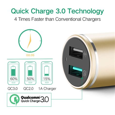 Ugreen Dual Usb Charger Fast Charging 3 4a Eu ugreen usb car charger 2 port charge 3 0 car charger 4 8a dual fast car charger for