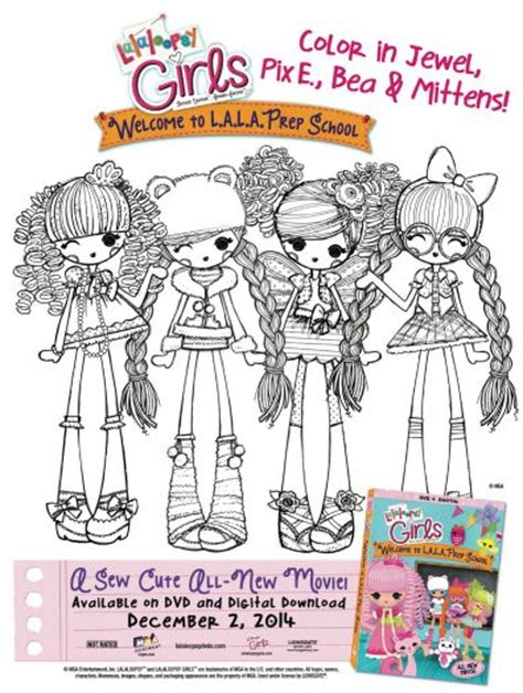Free Printable Lalaloopsy Girls Coloring Page   Printable
