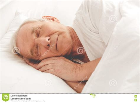 old bed guy handsome old man stock photo image 79701992