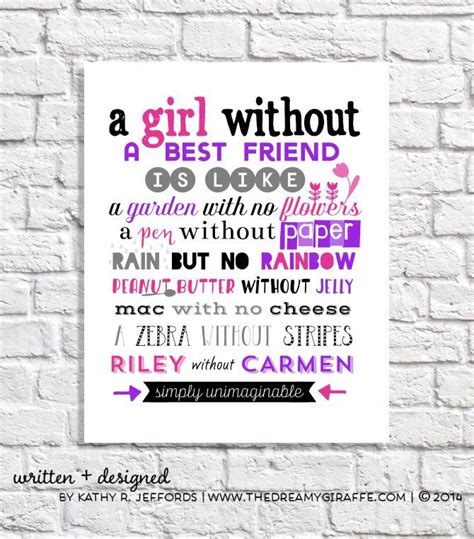 7 Whod Make A Fab Bff by Personalized Best Friend Print Set Of Two Best Friend