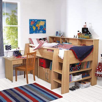 bunk beds with desk ireland reece midsleeper cabin bed beech stuff products beds and beech