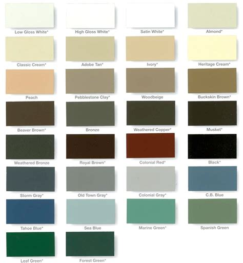 gutter colors gutter color chart los angeles gutter company