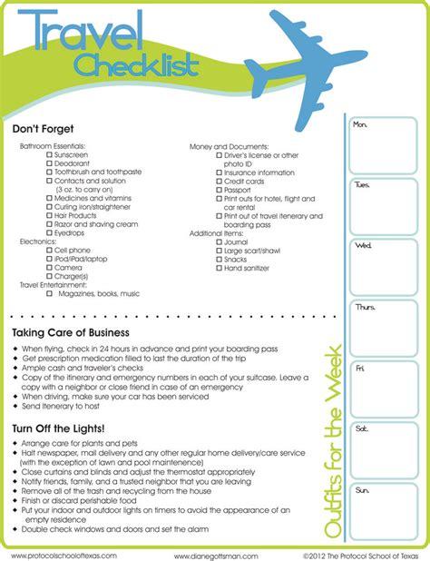 best 25 travel checklist ideas on pinterest checklist