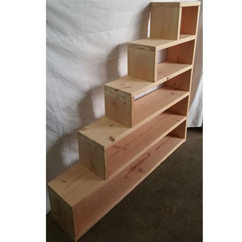 how to make a bunk bed with stairs solid wood custom made stairs for bunk or loft bed usmfs